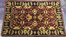 Load image into Gallery viewer, Oriental 4 x 6 Red, Black Rug #2001