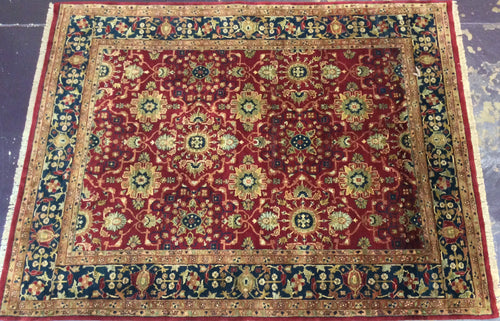 9 x 12 India Oriental 9 x 12 Red Blue #478