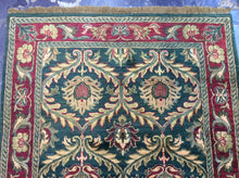 Load image into Gallery viewer, Oriental 4 x 6 Green, Red Rug #1449