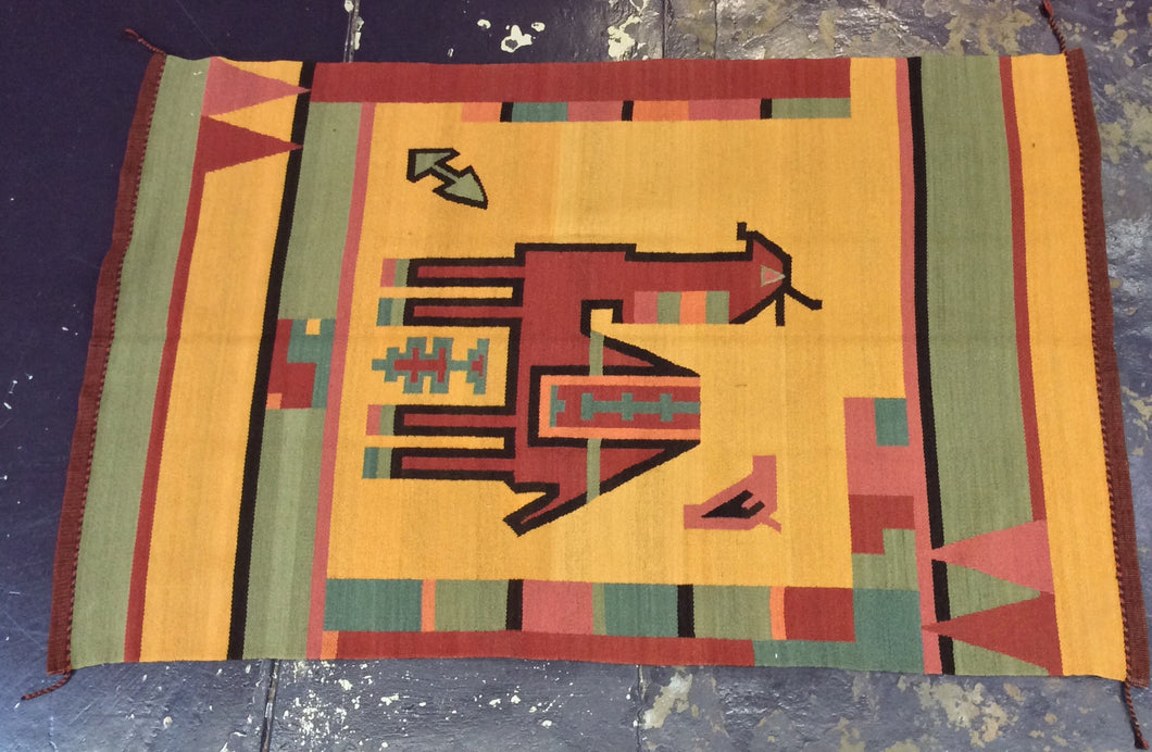 Kilim 6 x 8 Brown, Yellow Rug #3579