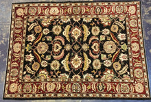 Load image into Gallery viewer, Traditional 6 x 9 Black Rug #20090