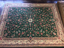 Load image into Gallery viewer, Traditional 12 x 15 Green Rug #7680