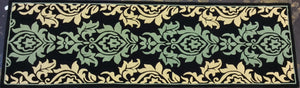 Contemporary 3 x 10 Blue Rug #60074