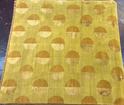 Contemporary 8 x 8 Gold Discount Rug #50799
