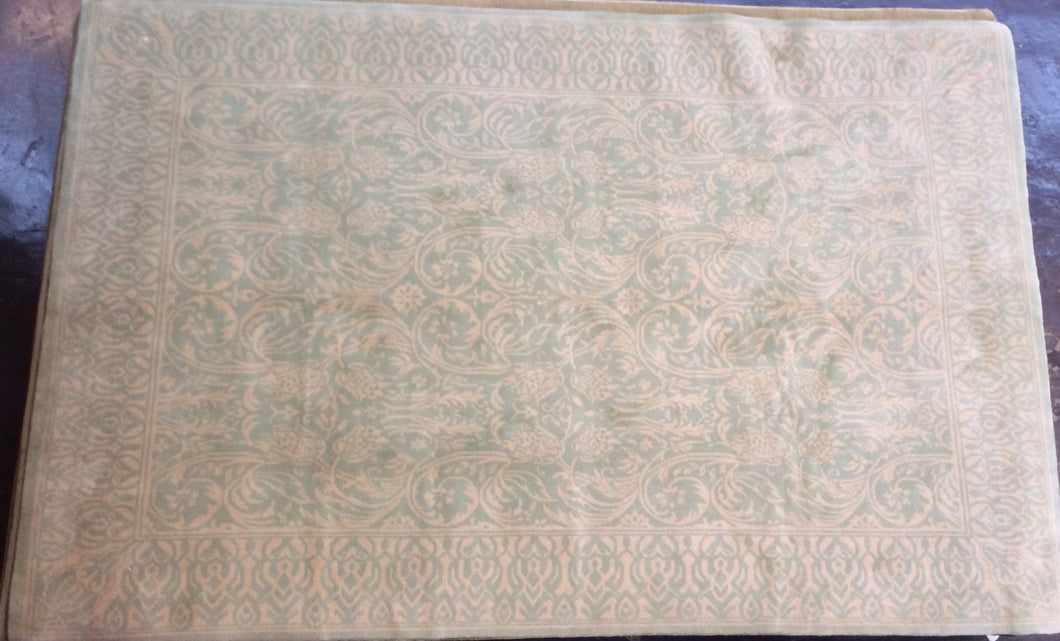Traditional 6 x 9 Green, Brown Rug #50729