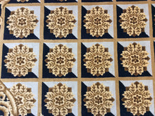 Load image into Gallery viewer, Contemporary 6 x 9 Black, Gold Rug #18689