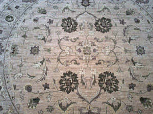 Traditional Square Beige, Silver Rug #28397