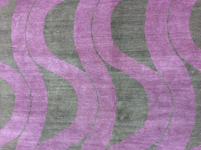 Contemporary 8 x 8 Pink Discount Rug #4301