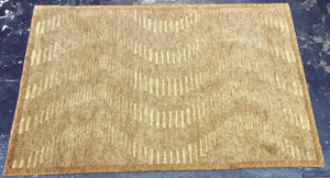 Contemporary 4 x 6 Gold Discount Rug #49285