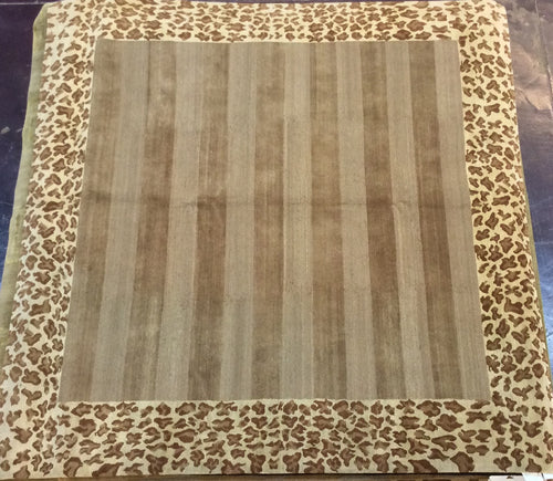 Contemporary 8 x 8 Ivory Discount Rug #11553