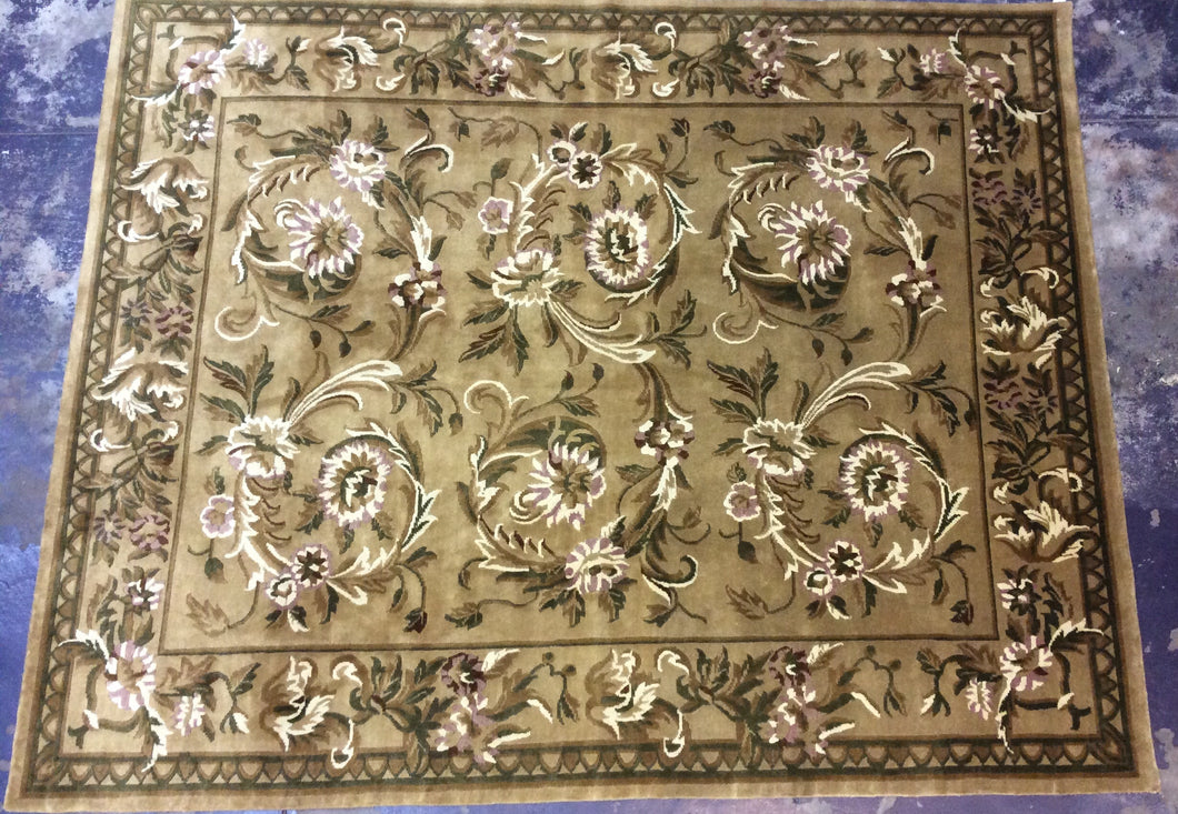 Contemporary 8 x 10 Beige Discount Rug #50904