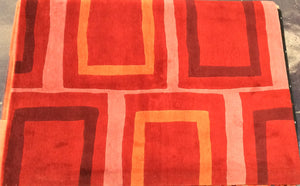 Contemporary 6 x 8 Red Rug #19420