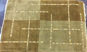 Contemporary 6 x 9 Grey, Brown Rug #1658