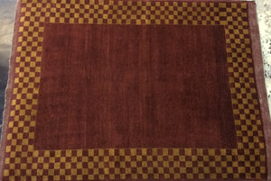 Traditional 5 x 7 Red Rug #20095