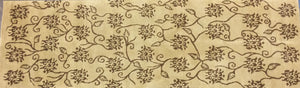 Contemporary 3 x 9 Gold Discount Rug #8177