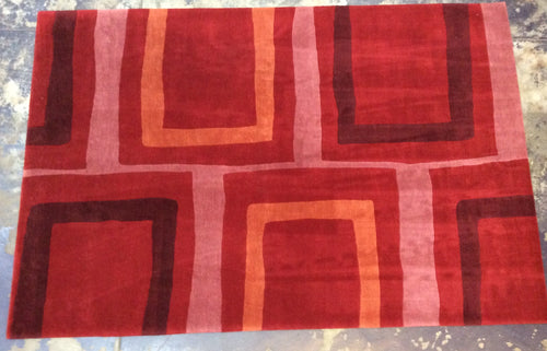 Contemporary 7 x 10 Red Discount Rug #25122