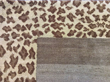 Load image into Gallery viewer, Contemporary 3 x 8 Brown Rug #11802