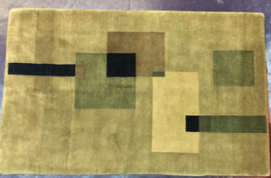 Contemporary 5 x 8 Beige Discount Rug #25788