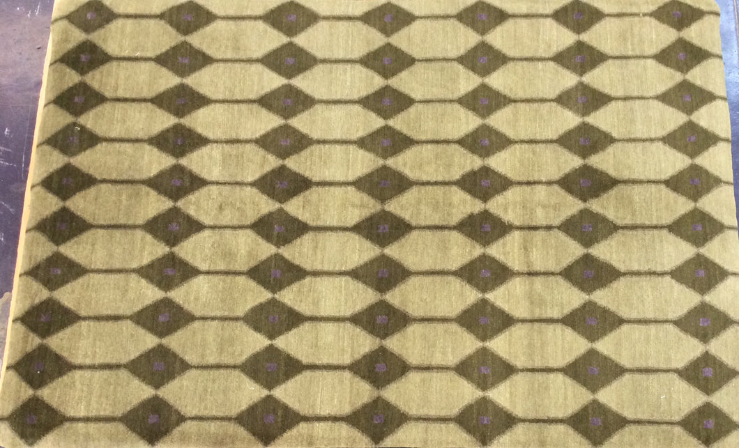 Contemporary 6 x 9 Gold Discount Rug #2580