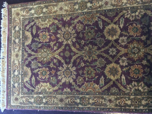 Traditional 3 x 10 Purple Rug #11394