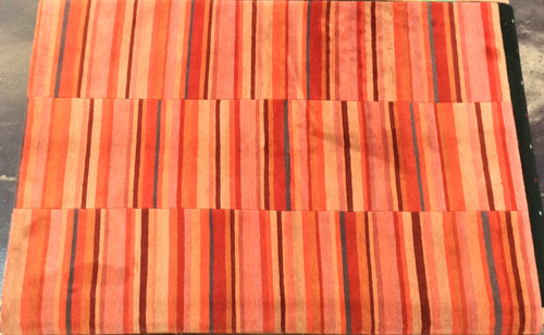 Contemporary 6 x 8 Red Rug #19430
