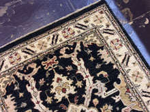Load image into Gallery viewer, Traditional 4 x 6 Black, Ivory Rug #37830