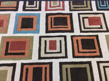 Load image into Gallery viewer, Contemporary 8 x 11 Multi-Color Rug #62386