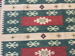 Kilim 6 x 9 Green, Multi-Color-Color Rug #19773