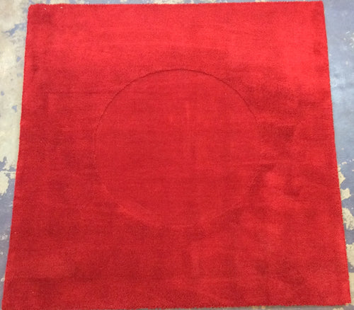 Contemporary 7 x 7 Red Discount Rug #51300