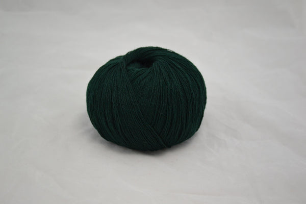 100% Cashmere, lace wt., Balsam Green