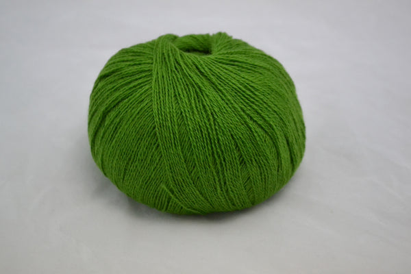 100% Cashmere, lace wt., English Ivy