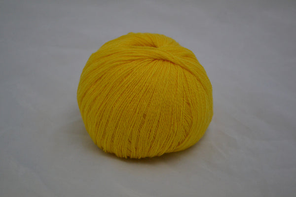 100% Cashmere, lace wt., Primrose Yellow