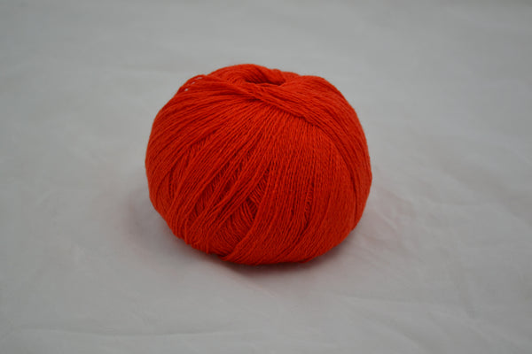 100% Cashmere, lace wt., Tiger Lily