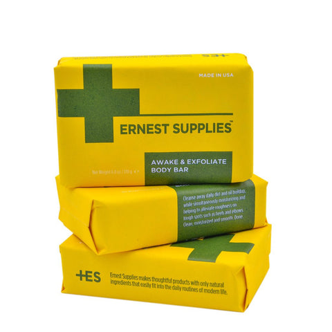 Ernest Supplies Awake & Exfoliate Body Bar
