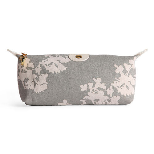 Apple & Bee Compact Cosmetic Bag - Japan Silver