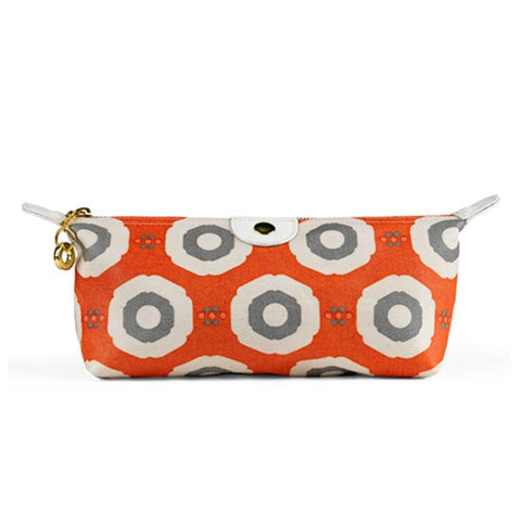 Apple & Bee Compact Cosmetic Bag - Sunflower Red