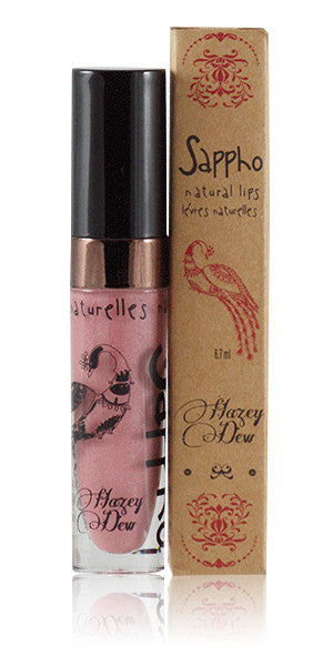 Sappho Hazey Dew Vegan and Organic Lip gloss