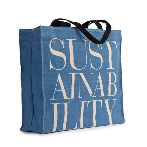 Apple & Bee 'Sustainability' Canvas Tote