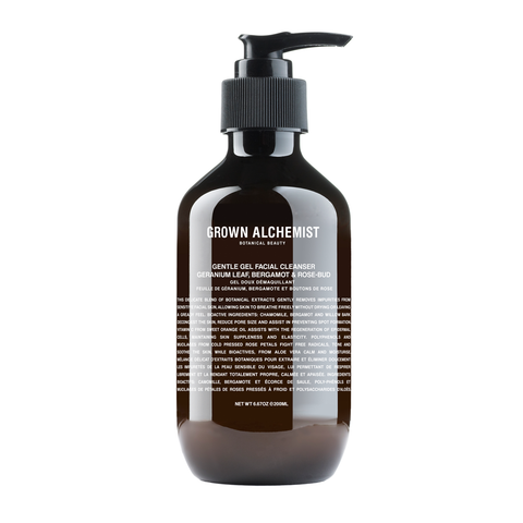 Grown Alchemist Gentle Gel Facial Cleanser - Geranium Leaf, Bergamot & Rose Bud