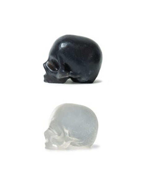Rebels Refinery - Black Activated Charcoal & Clear Glycerin Skull Soaps- 3 pack