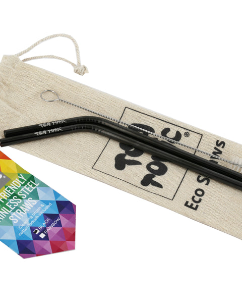 Black Eco Straws - 2 pack