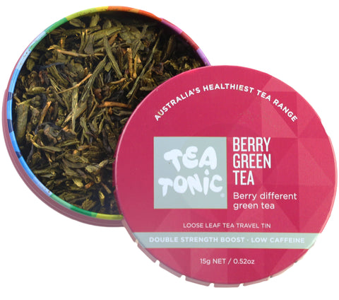 Berry Green Tea Loose Leaf Travel Tin