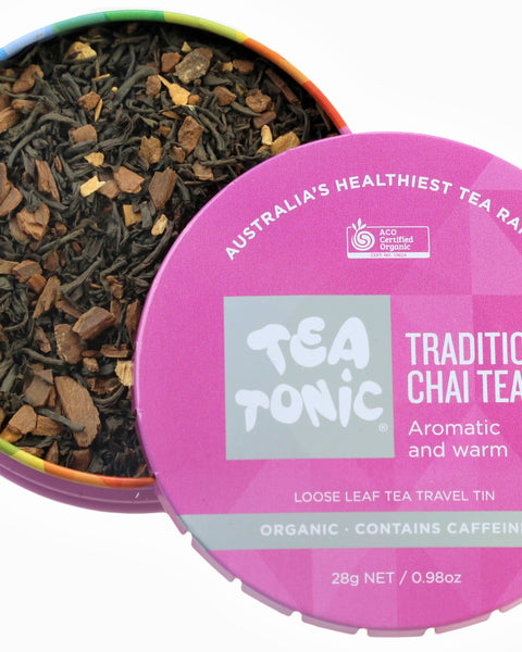Traditional Chai Tea Loose Leaf Travel Tin