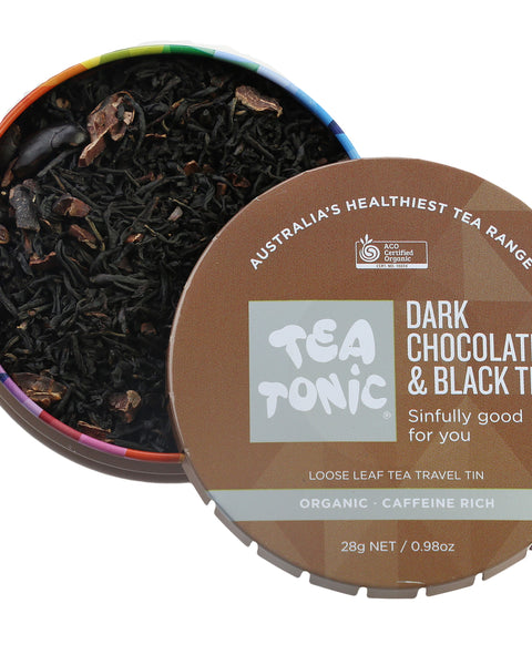 Dark Chocolate & Black Tea Loose Leaf Travel Tin