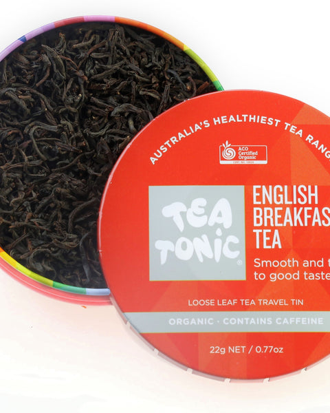English Breakfast Tea Loose Leaf Travel Tin