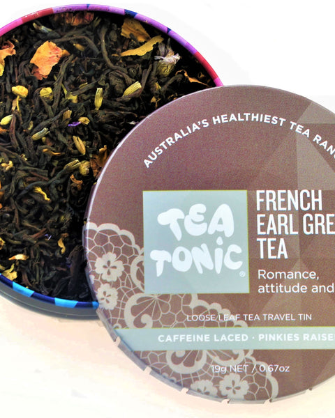 French Earl Grey Tea Loose Leaf Travel Tin