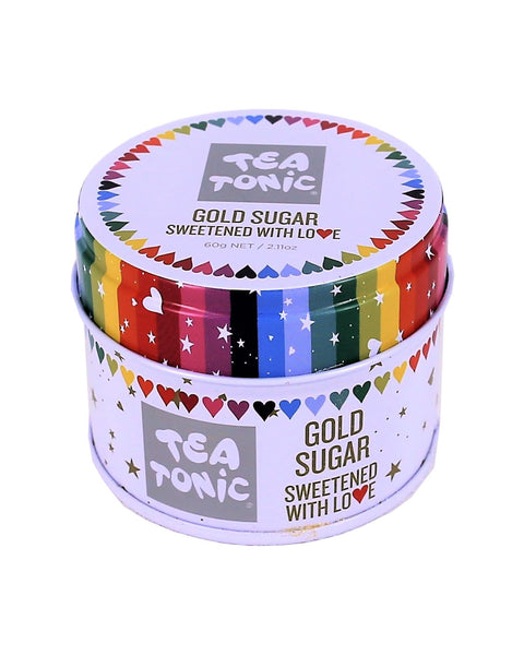 Gold Sugar with Hearts