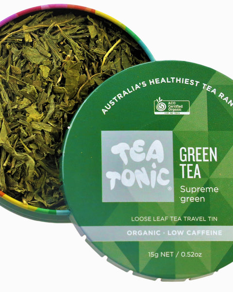 Green Tea Loose Leaf Travel Tin