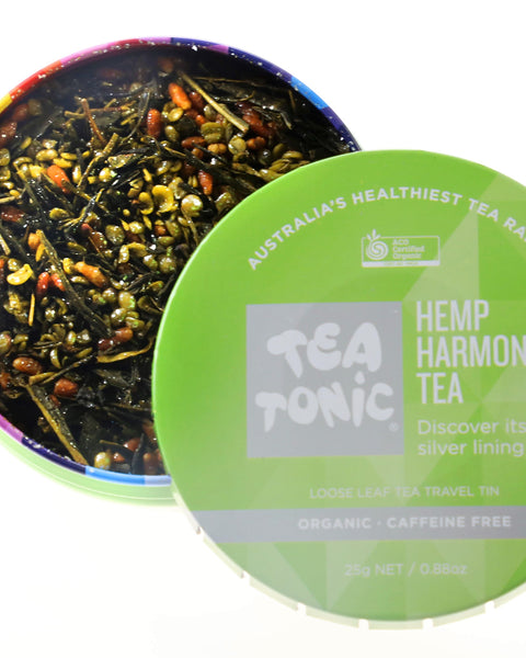 Hemp Harmony Tea Loose Leaf Travel Tin