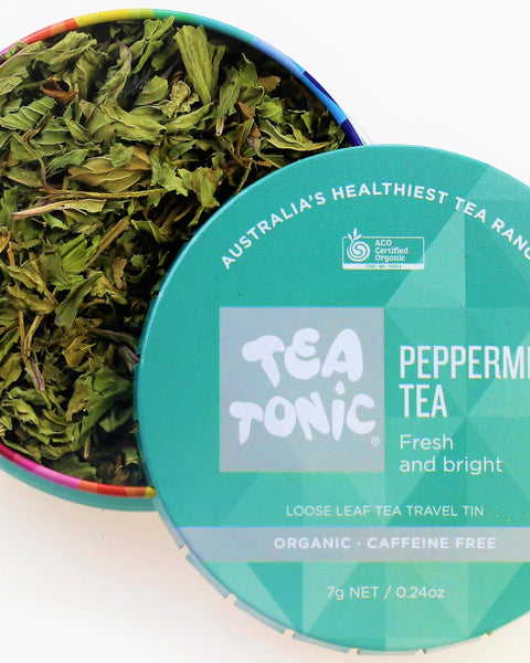 Peppermint Tea Loose Leaf Travel Tin